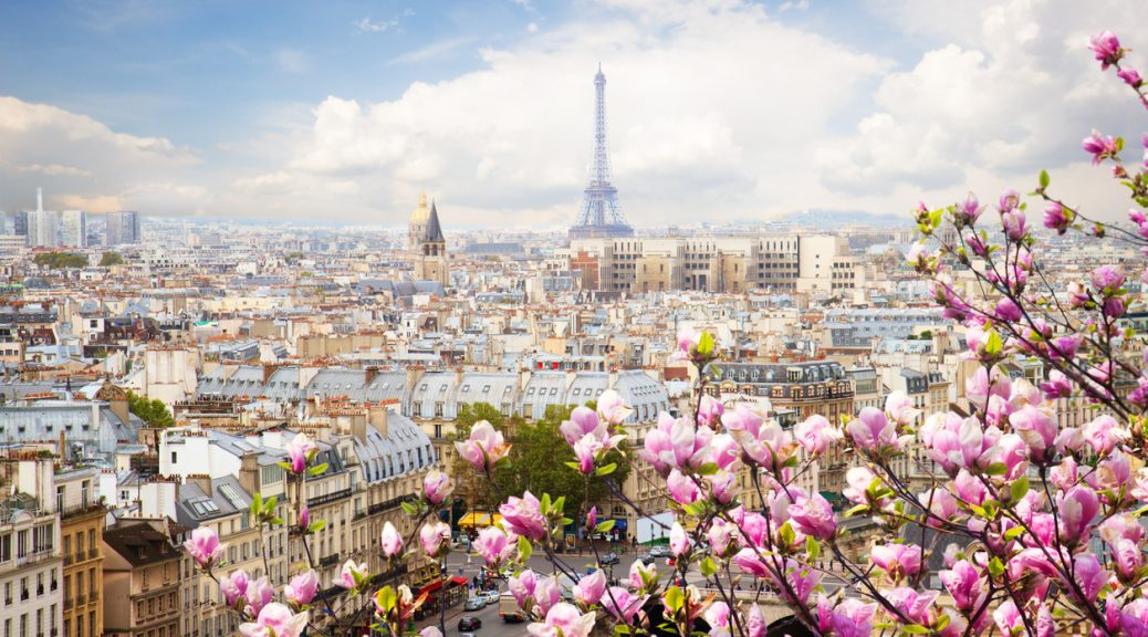 Romantic view of Paris